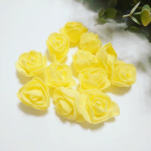 Yellow foam roses