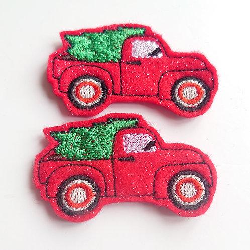 Glitter christmas truck