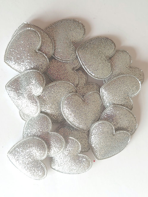 Silver shimmer sparkle heart
