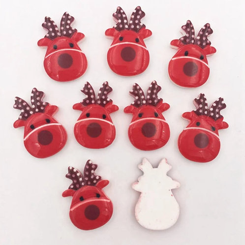 christmas reindeer resin flatbacks