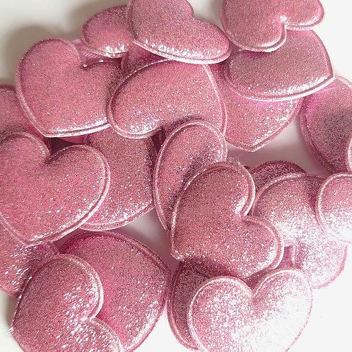 Pink shimmer sparkle heart