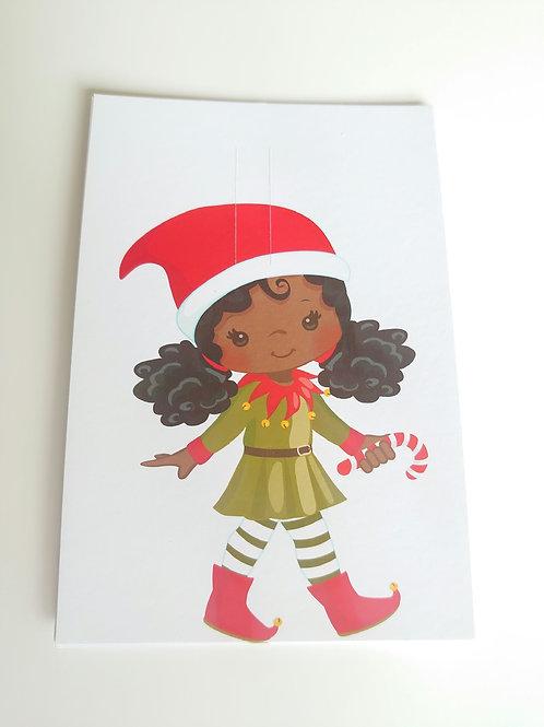 Christmas bow card