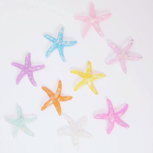 Resin glitter starfish