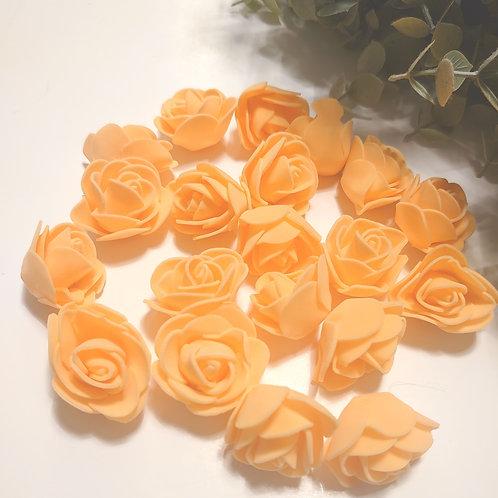 Orange foam roses