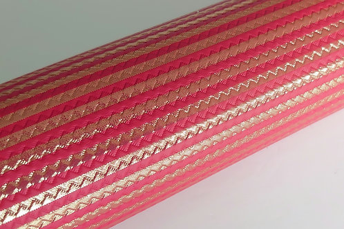 Red gold strip leatherette