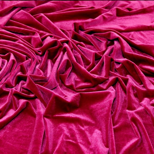 Fuchsia Velvet stretch fabric