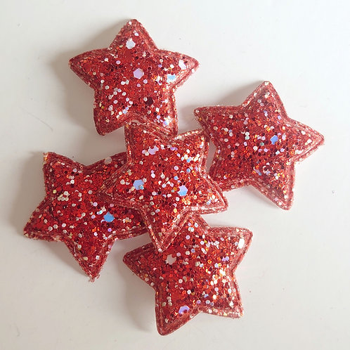 Star sequin glitter appliques