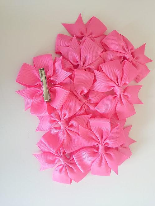 Grosgrain ribbon bow clip