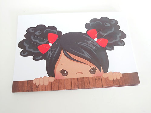 Pigtailed bow card