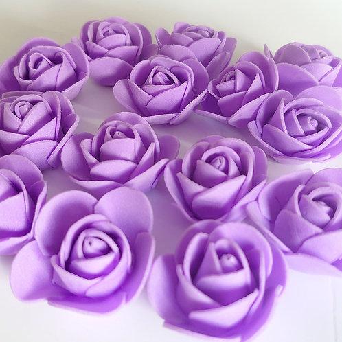 Purple foam roses