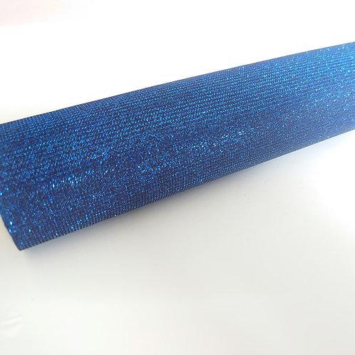 Blue faux leatherette fabric