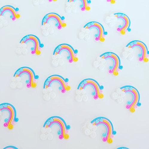 Blue rainbow hearts