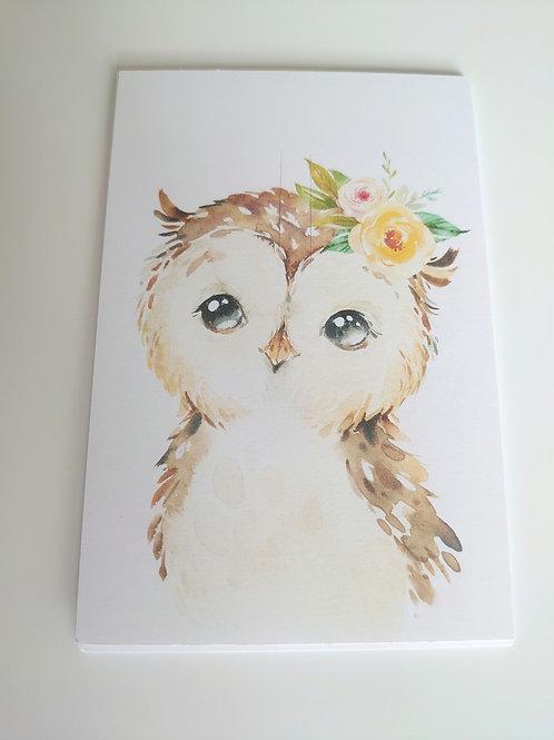 Owl bow card