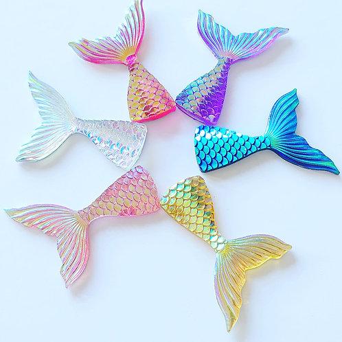 Pack of 6 resin mermaid tails