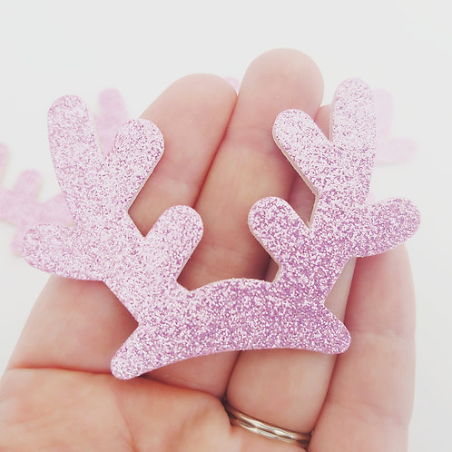Glitter antlers