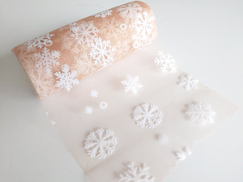 Gold Snowflake tulle