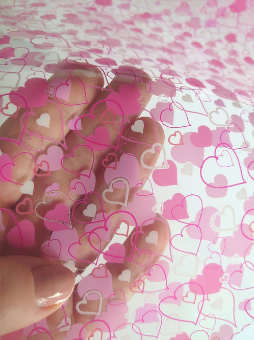 heart transparent pvc jelly sheets