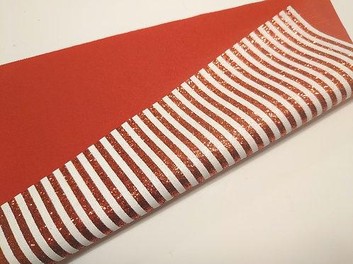 Red stripe glitter
