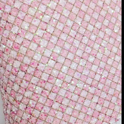 Pink Check glitter