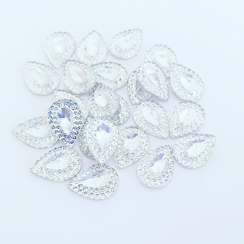 Water drop rhinestone flatbacks