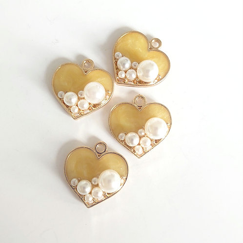 Pearl heart charm