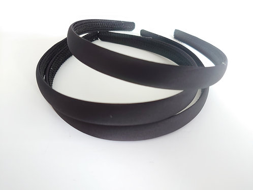 Black Matt satin Aliceband