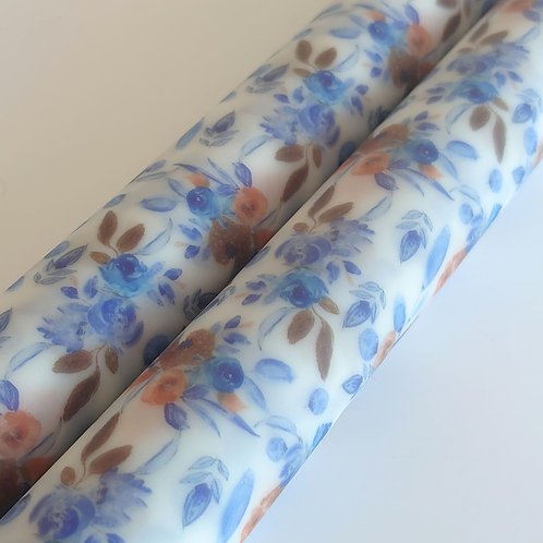 Blue flower pvc jelly sheet