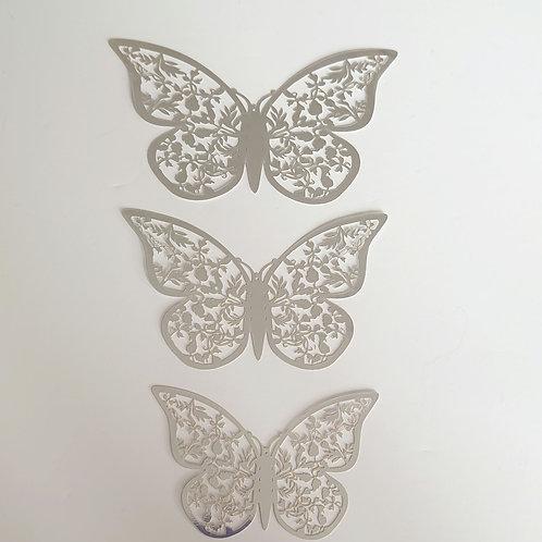 Silver gold butterflies