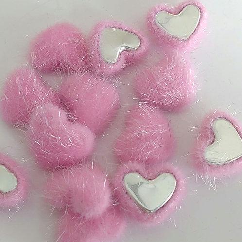 Pink velvet hearts