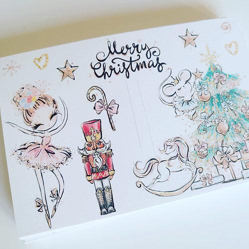 Merry Christmas bow card