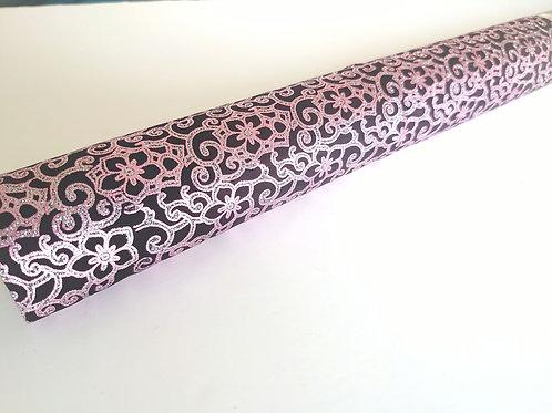 Glitter flower fabric
