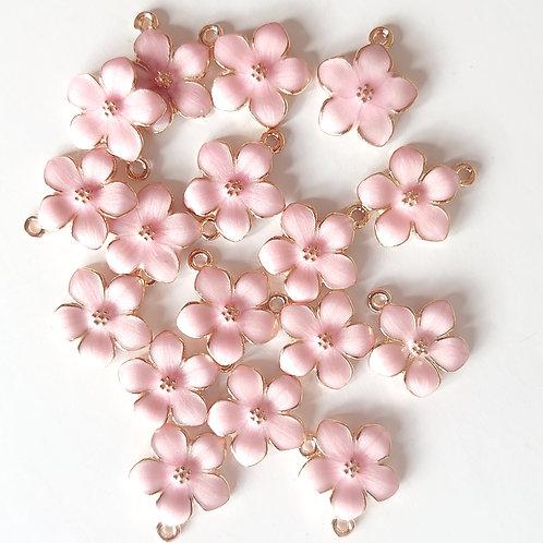 pink flower charm