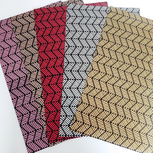 Patterned fabric synthetic leather