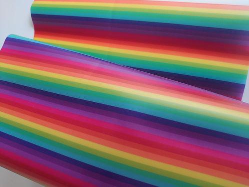Rainbow pvc jelly sheet