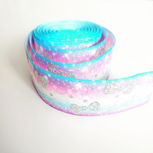 Rainbow bow grosgrain ribbon