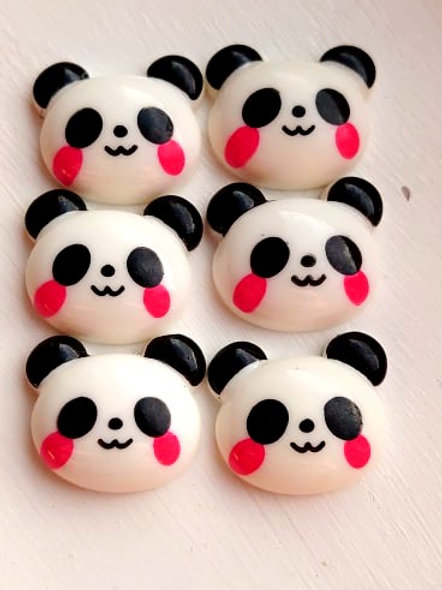 Kawaii Panda Resin Flatbacks