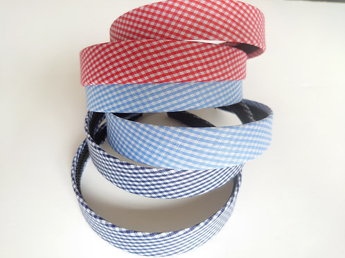 Gingham fabric Alice band