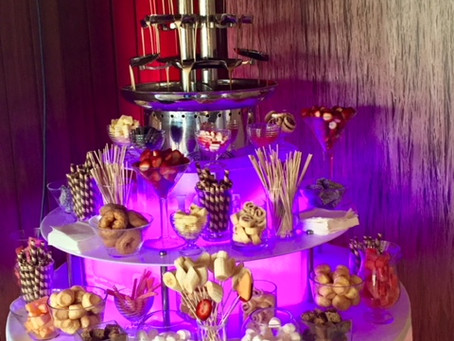 Add that 'wow' factor to your wedding with Angel Chocolate Falls