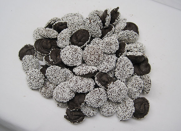 Dark Chocolate Non- Pareils w/ White toppings