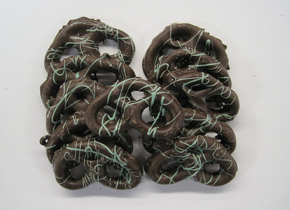 Mint Dark Chocolate Covered Pretzels