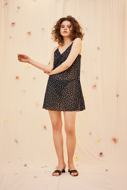 SHEER FORGET-ME-NOT  NIGHTDRESS