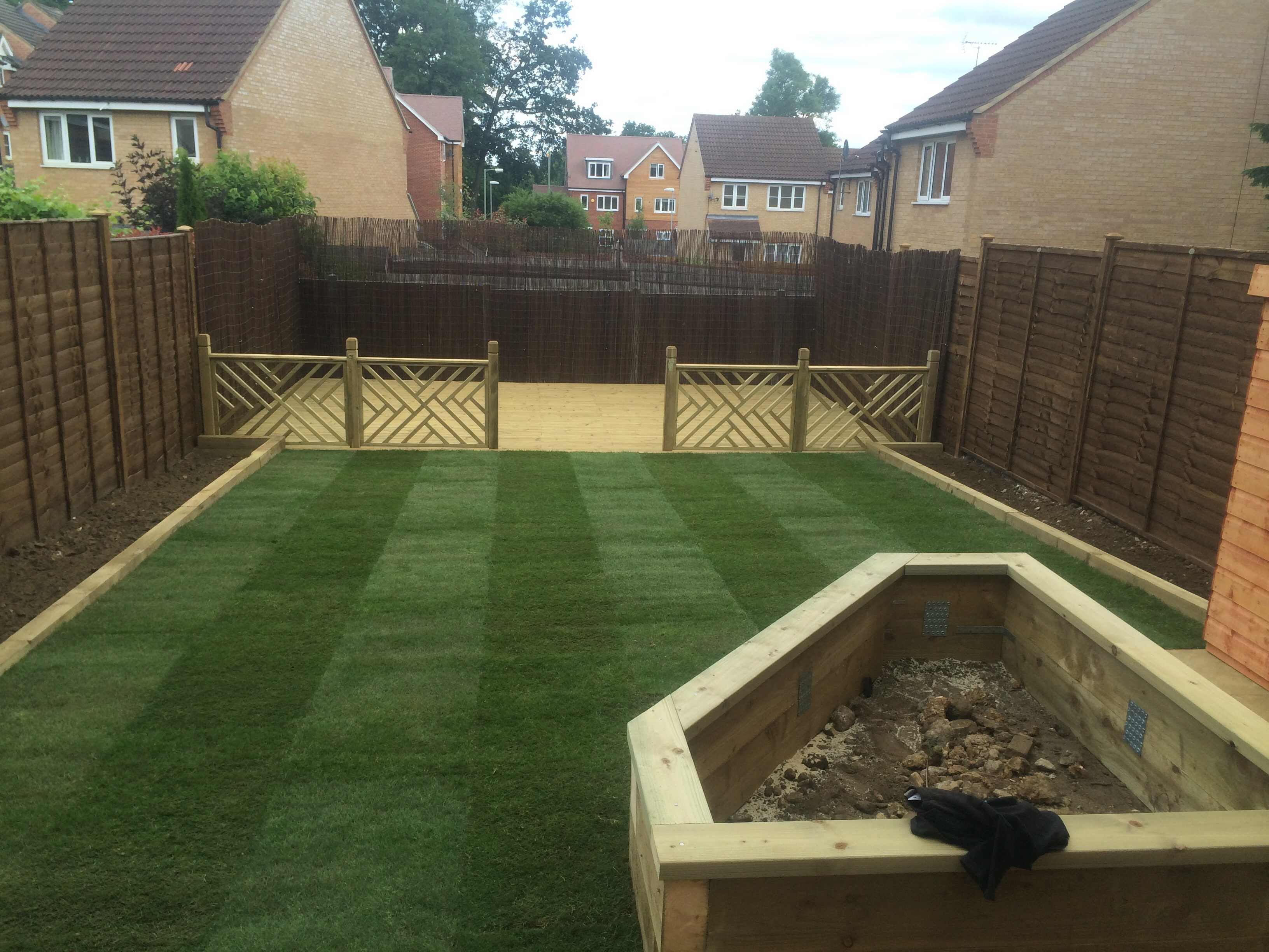 Decking And New Lawn
