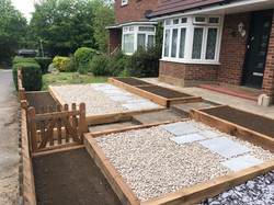 Sleeper beds, stoned area and picket