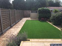 Artificial lawn & patio
