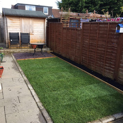 New Lawn, Flower Bed & Stoned Area