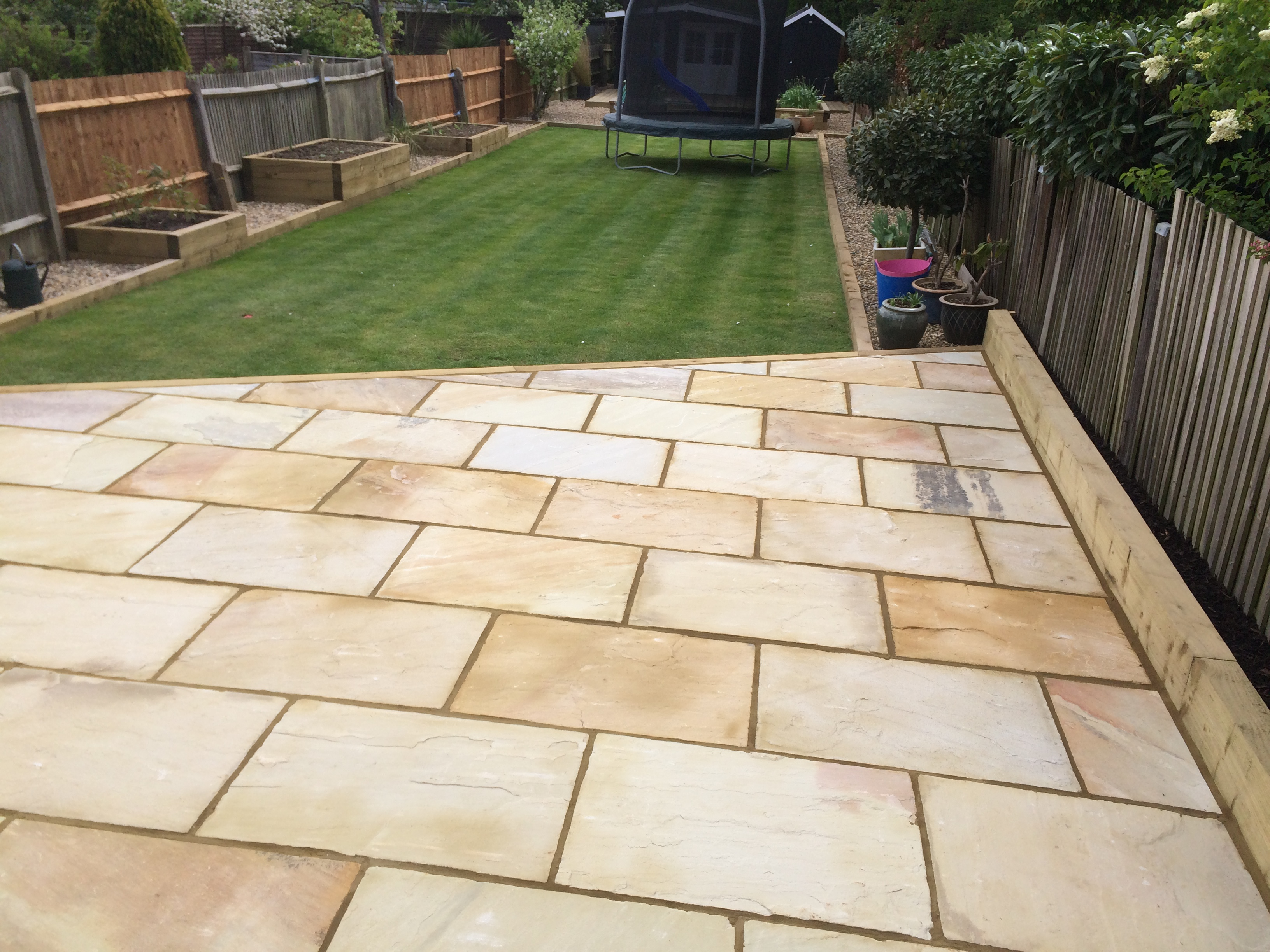 Patio, Lawn and Decking