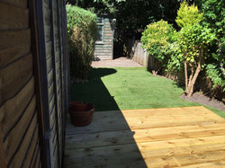Decking and new lawn, Watford