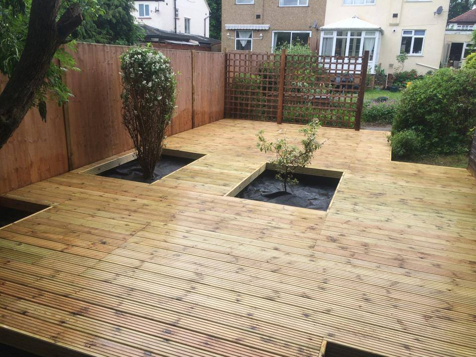 Decking and Planters