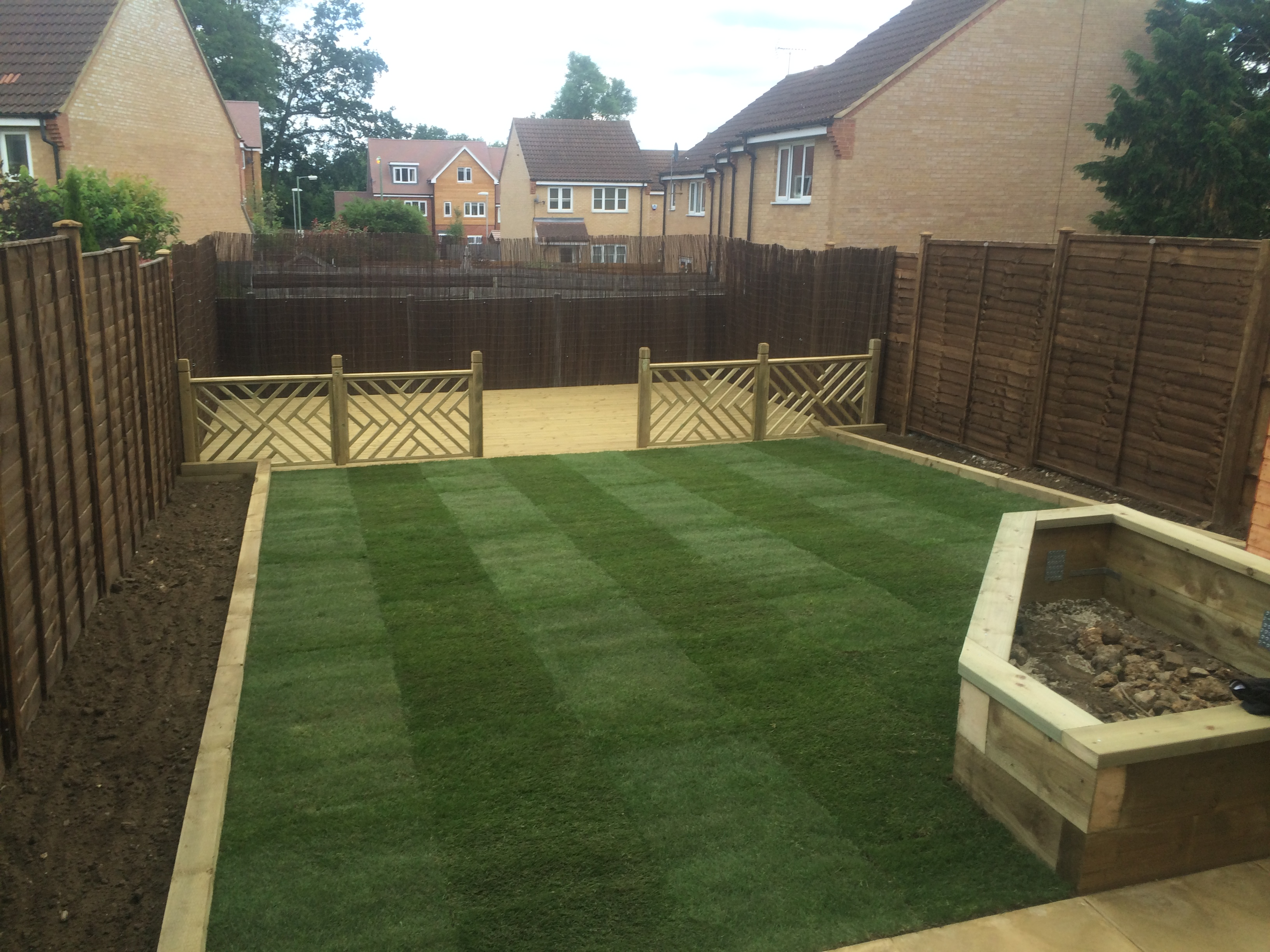 Decking and Lawn