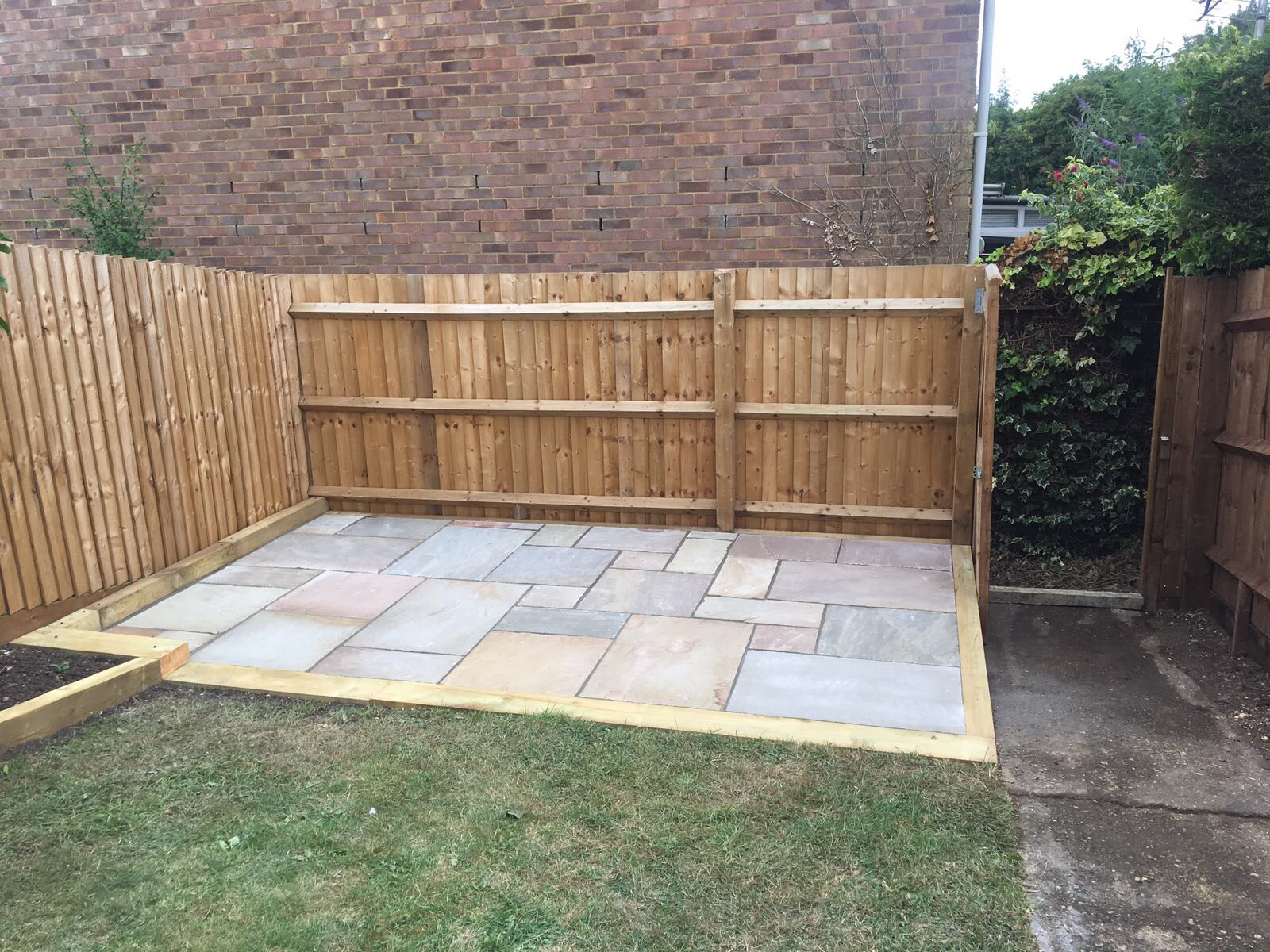 Patio laid in Redbourn.